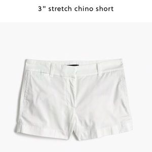 "J Crew 3"" White Chino Shorts"